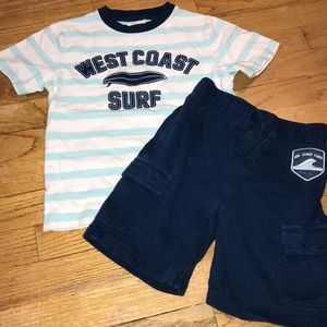 Boys Gymboree T-shirt and Short Set